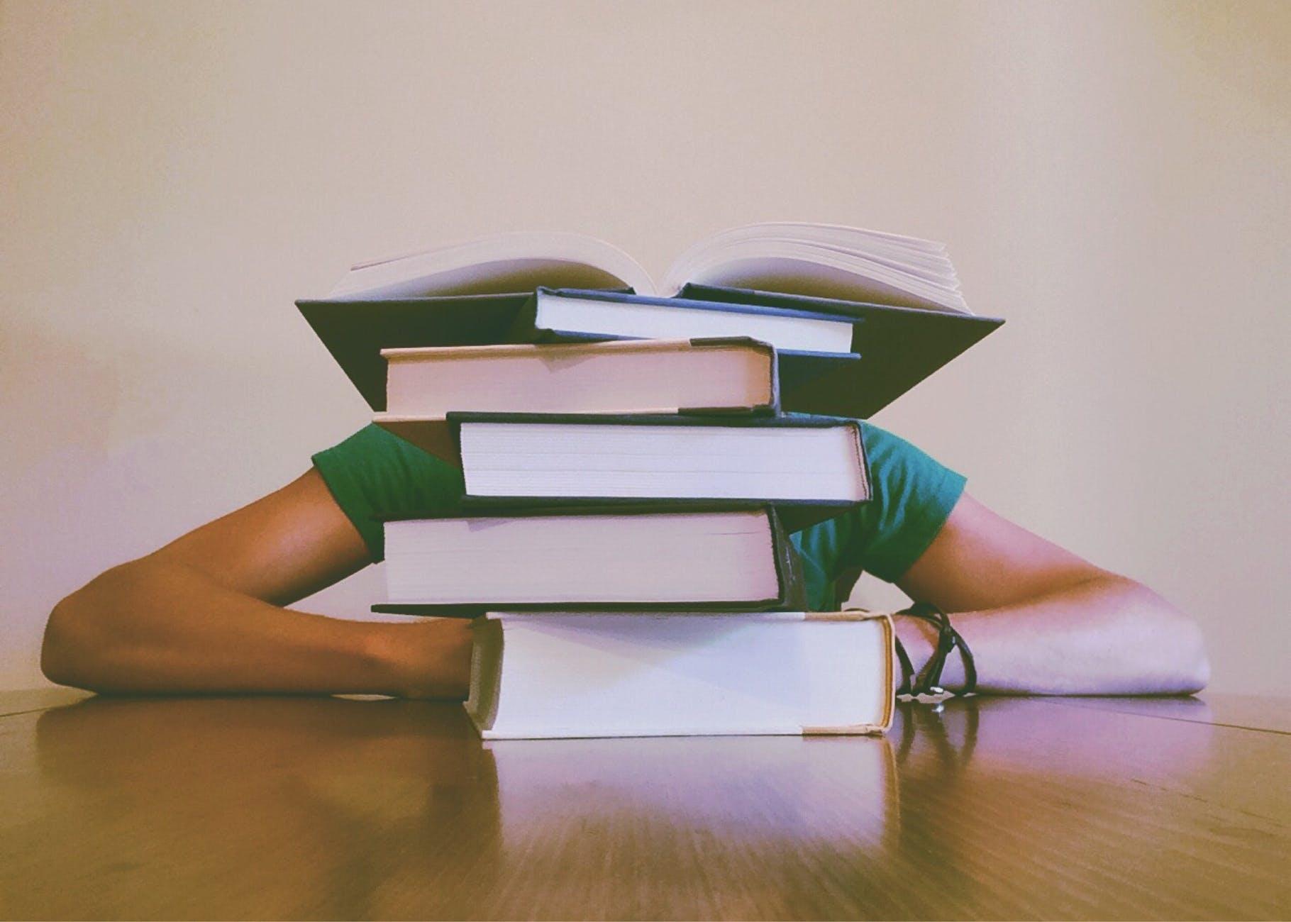 adult blur books close up
